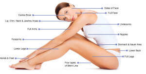 hair removal areas for ladies