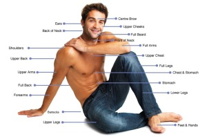 hair removal areas for men